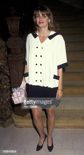 Kimberly Conrad during Playboy Playmate Of The Year Celebration April 25 1991 at Playboy Mansion in Bel Air California United States