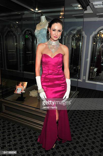 Kimberly Daniels attends Diana Legacy of A Princess Exhibition media preview day and reception at the Queen Mary on October 11 2013 in Long Beach...