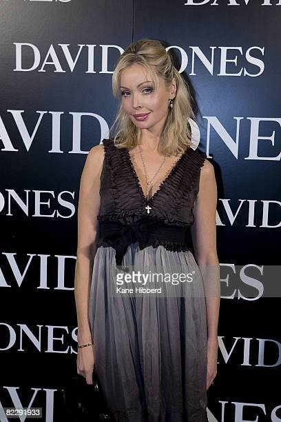 Kimberly Davies arrives at 'Summer in the City' the David Jones Summer 2008 Collections Launch at the Melbourne Town Hall on August 13 2008 in...