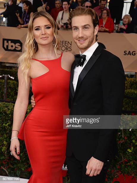 Kimberly Dos Ramos and Eugenio Siller attends the 22nd Annual Screen Actors Guild Awards at The Shrine Auditorium on January 30 2016 in Los Angeles...