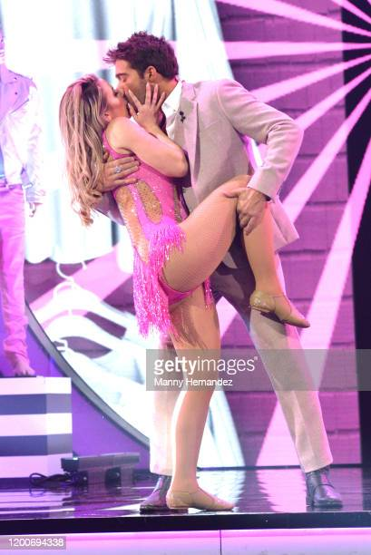 Kimberly Dos Ramos and Rodrigo Guirao at Mira Quien Baila All Stars at Univision Studios in Miami FL on January 19 2020