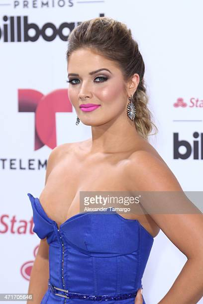 Kimberly Dos Ramos arrives at 2015 Billboard Latin Music Awards presented bu State Farm on Telemundo at Bank United Center on April 30 2015 in Miami...