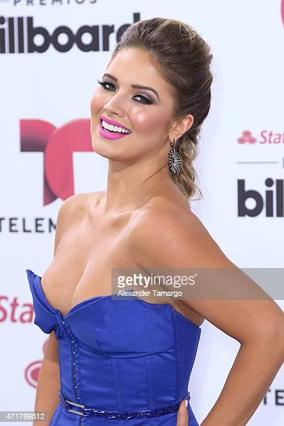 Kimberly dos Ramos arrives at 2015 Billboard Latin Music Awards presented by State Farm on Telemundo at Bank United Center on April 30 2015 in Miami...