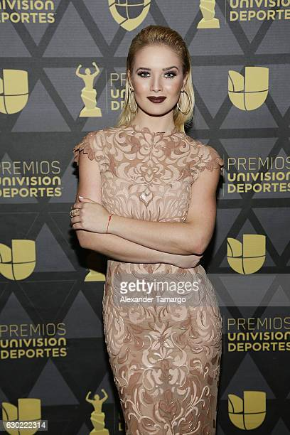 Kimberly Dos Ramos arrives at Premios Univision Deportes 2016 on December 18 2016 in Miami Florida