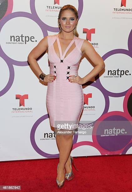 Kimberly dos Ramos arrives at Telemundo International Welcome Party during NATPE 2015 at Adrienne Arsht Center on January 20, 2015 in Miami, Florida.