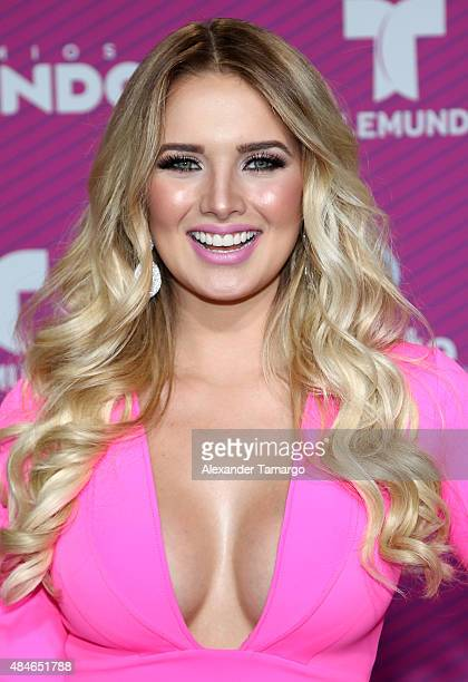 Kimberly Dos Ramos arrives at Telemundo's 'Premios Tu Mundo Awards' at American Airlines Arena on August 20 2015 in Miami Florida