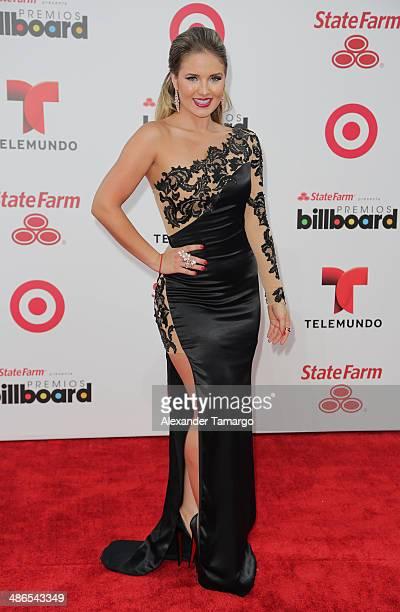 Kimberly dos Ramos arrives at the 2014 Billboard Latin Music Awards at Bank United Center on April 24, 2014 in Miami, Florida.