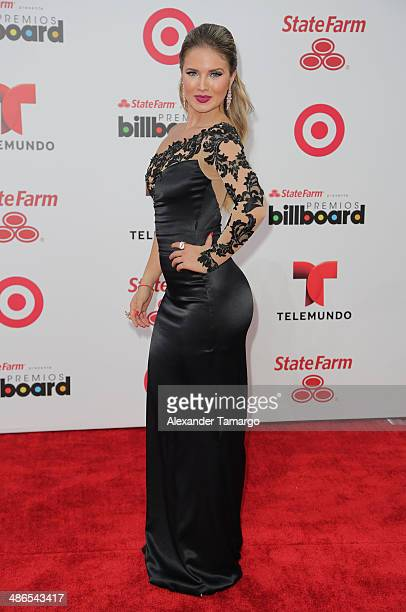 Kimberly dos Ramos arrives at the 2014 Billboard Latin Music Awards at Bank United Center on April 24, 2014 in Miami, Florida.
