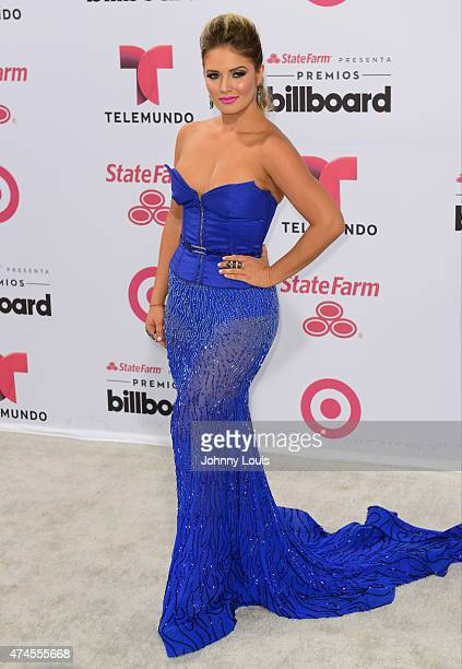 Kimberly dos Ramos attend the 2015 Billboard Latin Music Awards presented by State Farm on Telemundo at Bank United Center on April 30 2015 in Miami...
