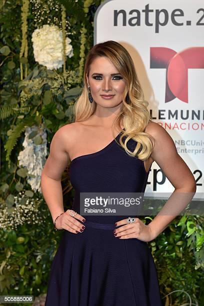 Kimberly Dos Ramos attends Telemundo NATPE party on January 19 2016 in Miami Beach Florida