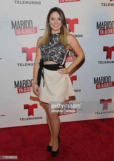 "Kimberly Dos Ramos attends Telemundo's ""Marido en Alquiler"" Presentation at Telemundo Studios on July 10, 2013 in Miami, Florida."