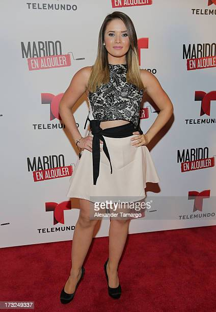 "Kimberly Dos Ramos attends Telemundo's ""Marido en Alquiler"" Presentation at Telemundo Studios on July 10, 2013 in Miami, Florida."