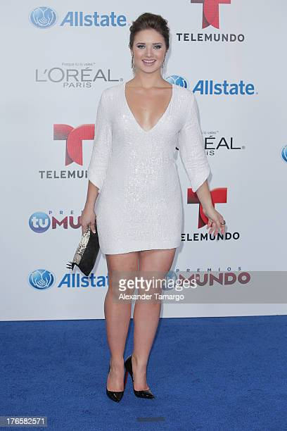 Kimberly Dos Ramos attends Telemundo's Premios Tu Mundo Awards at American Airlines Arena on August 15, 2013 in Miami, Florida.