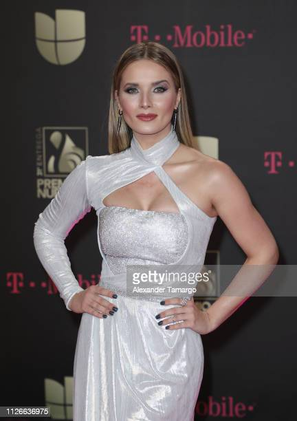 Kimberly Dos Ramos attends Univision's 31st Edition Of Premio Lo Nuestro A La Musica Latin at American Airlines Arena on February 21 2019 in Miami...