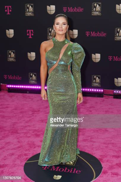 Kimberly Dos Ramos attends Univision's Premio Lo Nuestro 2020 at AmericanAirlines Arena on February 20 2020 in Miami Florida