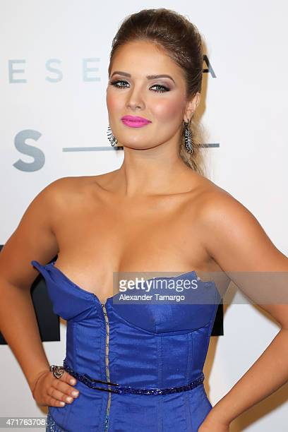 Kimberly dos Ramos poses backstage at 2015 Billboard Latin Music Awards presented by State Farm on Telemundo at Bank United Center on April 30 2015...