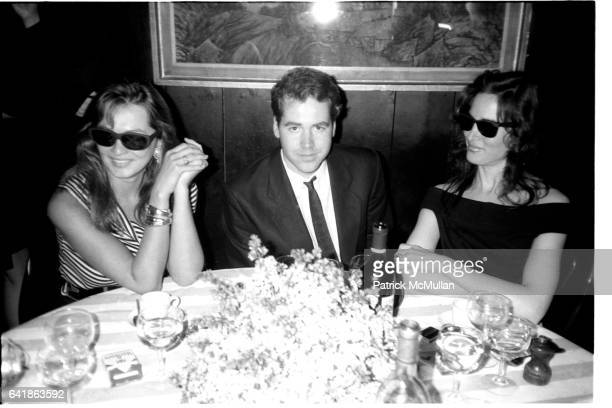 Kimberly DuRoss Bret Easton Ellis and Maria Snyder at Hedy Klineman's luncheon at Mortimer's Saturday May 9 1987