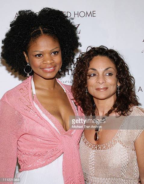 Kimberly Elise and Jasmine Guy during Girlz in the Hood Luncheon Celebrating Women of Achievement Awards to Benefit A Place Called Home at Beverly...