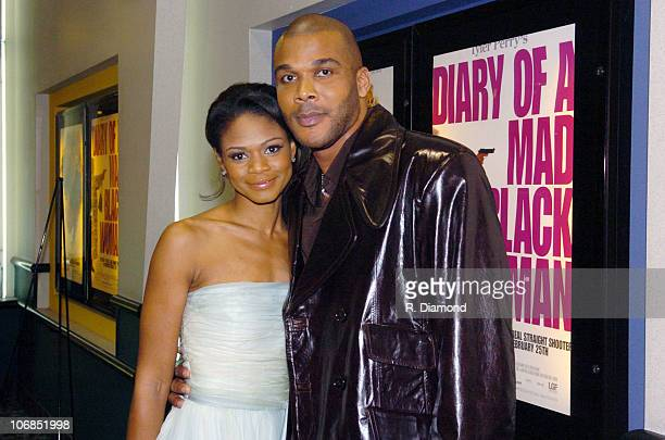 Kimberly Elise and Tyler Perry during Tyler Perry's Diary of a Mad Black Woman Special Atlanta Screening Inside at Phipps Plaza in Atlanta Georgia...