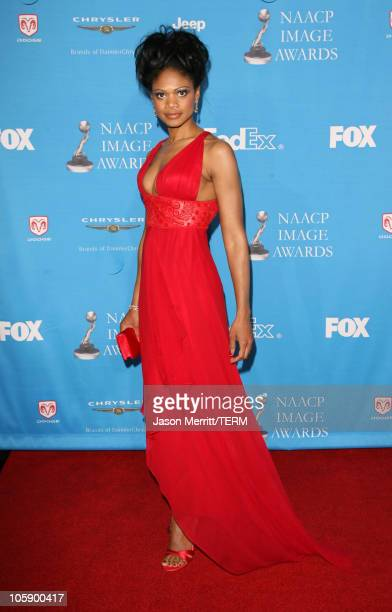 Kimberly Elise during The 37th Annual NAACP Image Awards Arrivals at Shrine Auditorium in Los Angeles California United States
