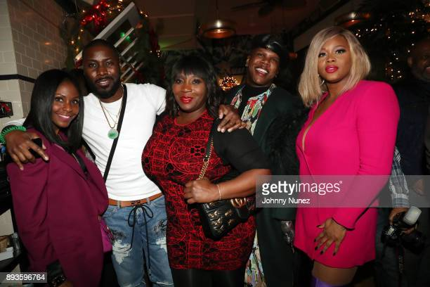 Kimberly Evans Paige Terrell Bevy Smith Miss Lawrence and Claire Sulmers attend the Chez Lucienne Of Harlem Grand ReOpening and Fantasia's Christmas...