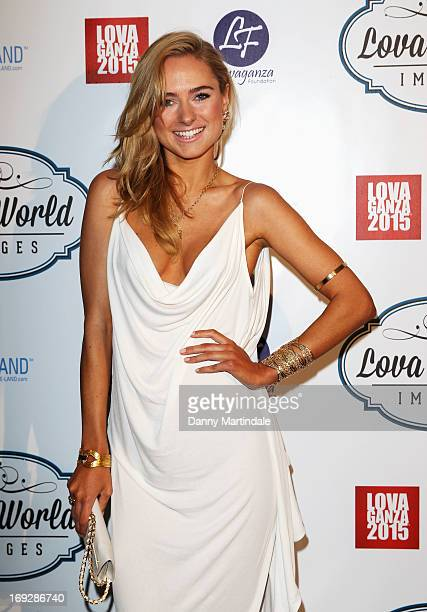 Kimberly Garner attends Lova World Images party during the 66th Annual Cannes Film Festival at Baoli Beach on May 22 2013 in Cannes France