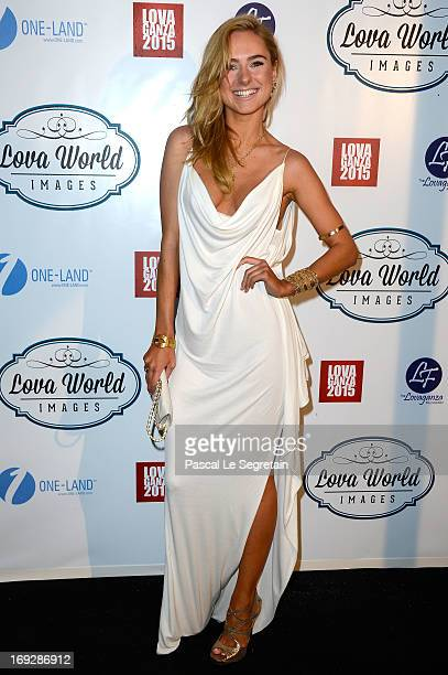 Kimberly Garner attends the Lova World Images Closing Party during the 66th Annual Cannes Film Festival at Baoli Beach on May 22 2013 in Cannes France