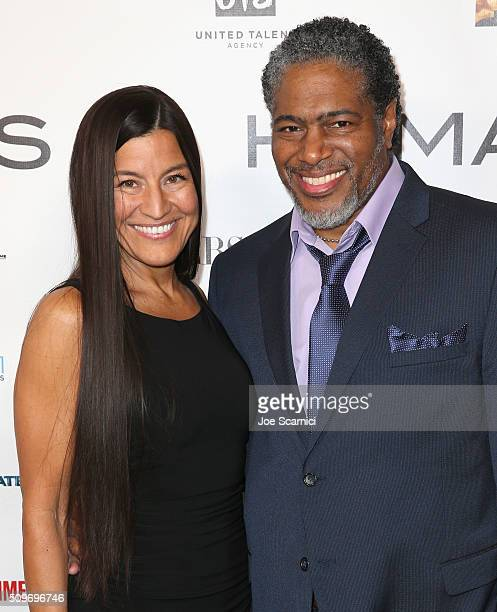 Kimberly Guerrero finalist Drama Fellowship and President of the Humanitas Awards Ali LeRoi attend the 41st Humanitas Prize Awards Ceremony at...