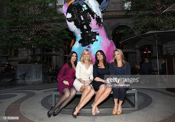 "Kimberly Guilfoyle, Ainsley Earhardt, Andrea Tantaros and Lauren Glassberg attend Julien Marinetti's ""Doggy John"" exhibition opening at The New York..."