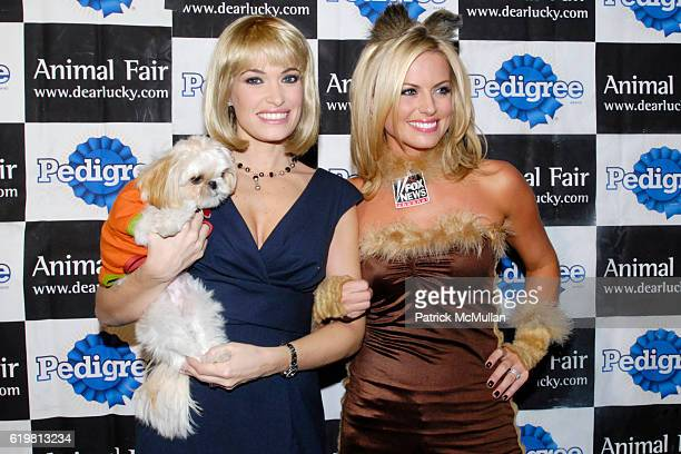 Kimberly Guilfoyle and Courtney Friel attend Animal Fair Magazine's 8th Annual Halloween Pet Costume Party presented by Pedigree at Mansion on...