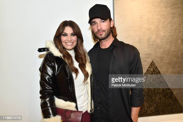 Kimberly Guilfoyle and Nick Moss attend the Nick Moss STEEL SHAPES Opening at Leila Heller Gallery on January 10 2020 in New York City