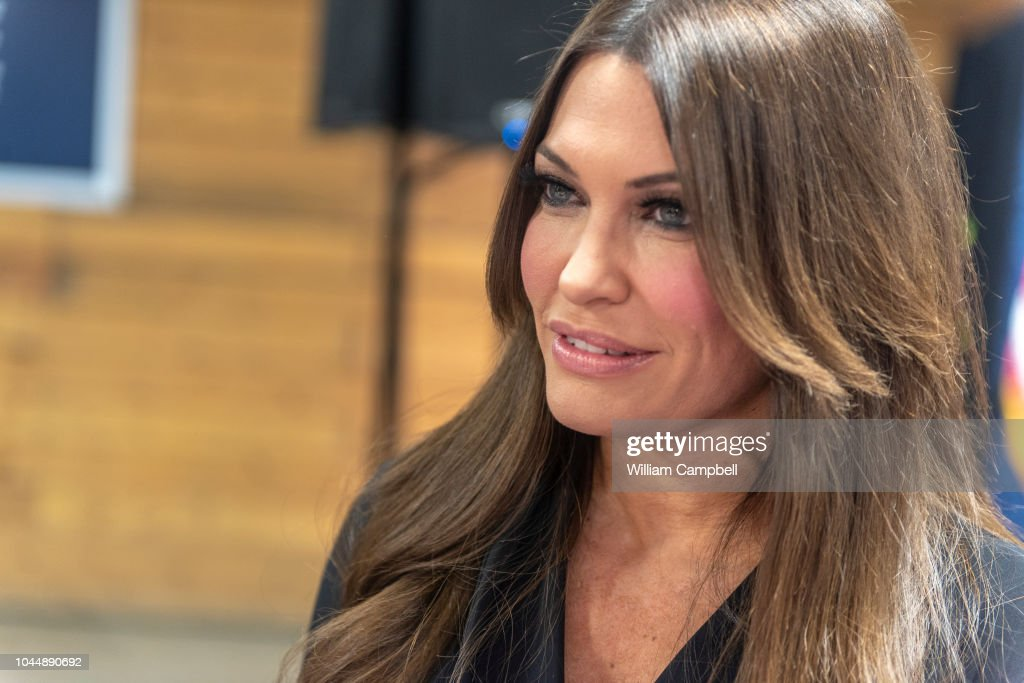 Kimberly Guilfoyle At A Campaign Rally With Donald Trump Jr In