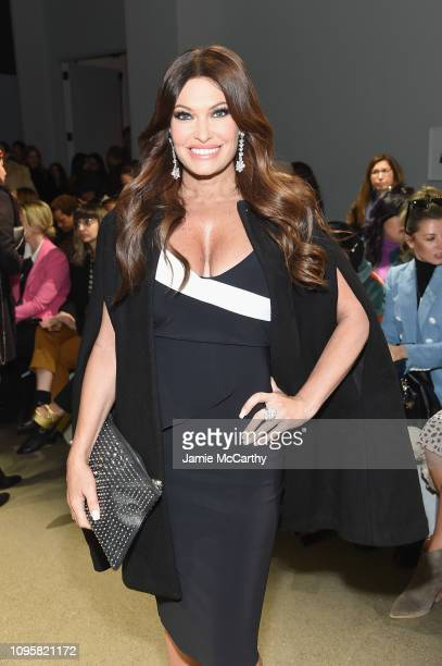 Kimberly Guilfoyle attends the Chiara Boni La Petite Robe front row during New York Fashion Week The Shows at Gallery II at Spring Studios on...