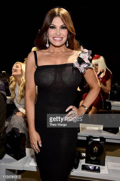 Kimberly Guilfoyle attends the Zang Toi front row during New York Fashion Week The Shows at Gallery II at Spring Studios on February 13 2019 in New...
