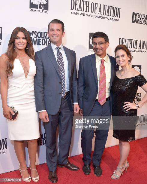 Kimberly Guilfoyle Donald Trump Jr Dinesh D'Souza and Debbie Fancher attend the DC premiere of the film 'Death of a Nation' at E Street Cinema on...