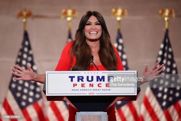Kimberly Guilfoyle prerecords her address to the Republican National Convention at the Mellon Auditorium on August 24 2020 in Washington DC The novel...