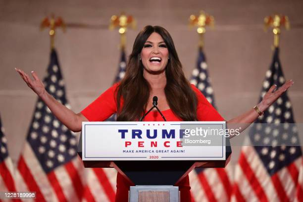 Kimberly Guilfoyle, President Donald Trump campaign aide, speaks during the Republican National Convention at the Andrew W. Mellon Auditorium in...