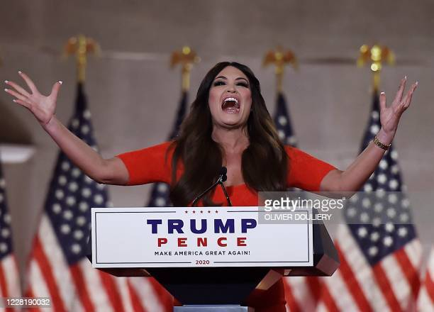 Kimberly Guilfoyle speaks during the first day of the Republican convention at the Mellon auditorium on August 24 2020 in Washington DC