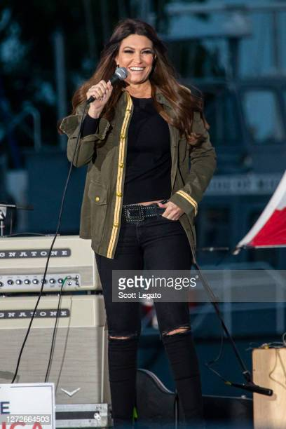 Kimberly Guilfoyle speaks in support of Donald Trump at the Donald Trump rally on September 14, 2020 in Harrison, Michigan.