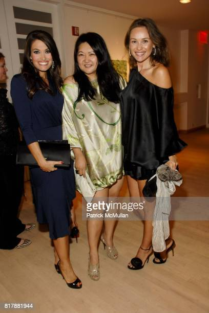 Kimberly Guilfoyle Susan Shin and Beata Bohman attend Power Of Muze Concerts Integration For Peace at Bohemian National Hall on September 23 2010 in...