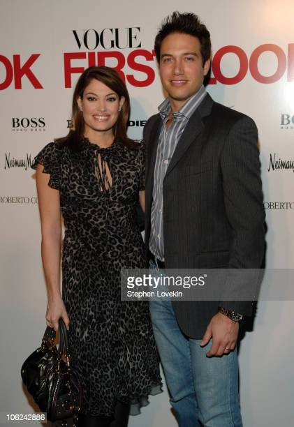 Kimberly Guilfoyle Villency and Eric Villency during MercedesBenz Fashion Week Fall 2007 Vogue First Look Arrivals and Inside at Phillips de Pury...