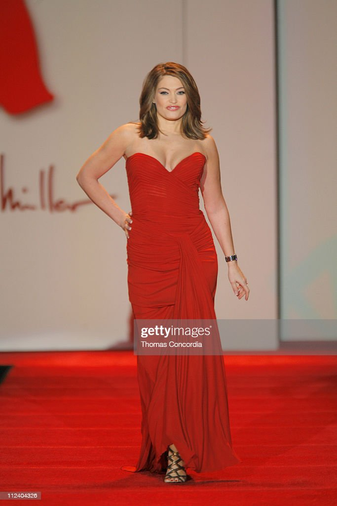 Mercedes-Benz Fashion Week Fall 2007 - Heart Truth Red Dress - Runway : News Photo