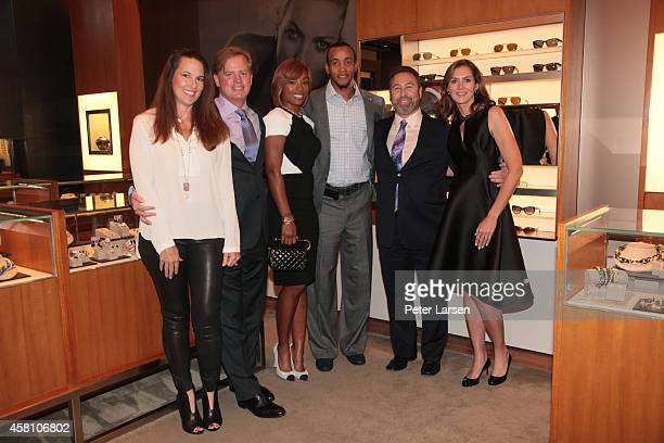 Kimberly Hart Robert Hart Juanika Ellis Monta Ellis Brian Schultz and Betty Schultz are all cohosts at an instore event hosted by David Yurman with...