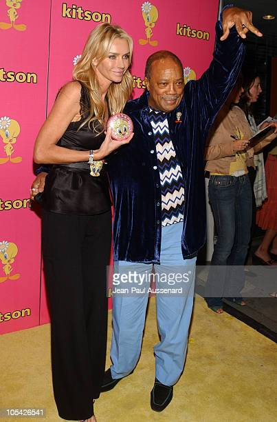 Kimberly Hefner and Quincy Jones during Tweety Natural Blonde Shopping Party and Clothing Launch Arrivals at Kitson in Los Angeles California United...