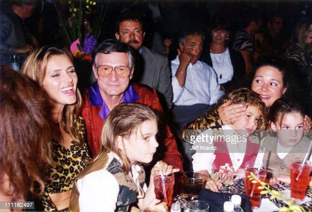 Kimberly Hefner Hugh Hefner during 1996 APLA Party at Playboy Mansion in Los Angeles California United States