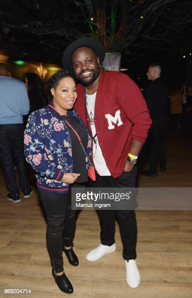 Kimberly Herbert Gregory and Brian Tyree Henry attends the Xbox One X Launch Event at 5Church on November 1 2017 in Atlanta Georgia