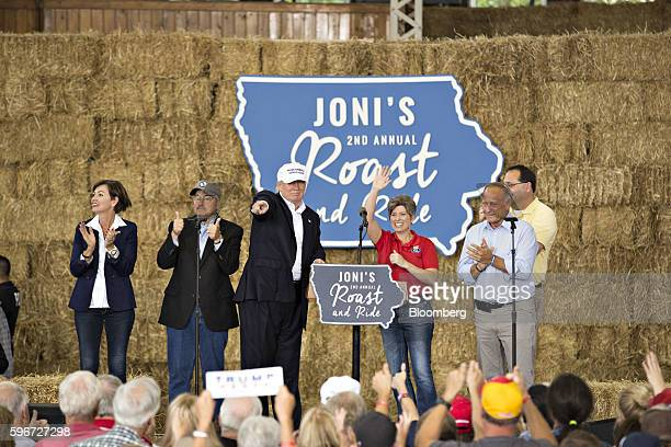 Kimberly 'Kim' Reynolds lieutenant governor of Iowa from left Terry Branstad governor of Iowa Donald Trump 2016 Republican presidential nominee...