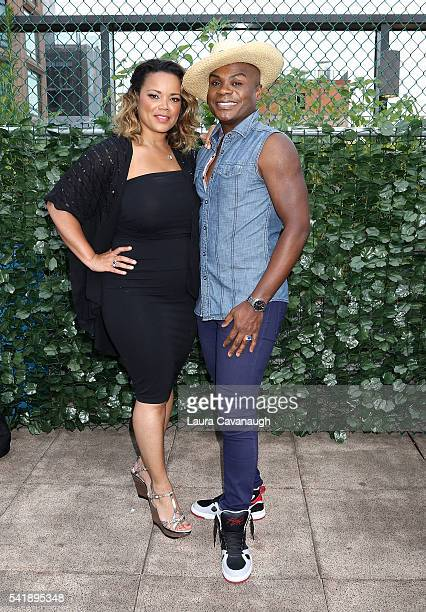 Kimberly Locke and Nathan Lee Graham attend 6th Annual Broadway Sings For Pride Concert at JCC Manhattan on June 20 2016 in New York City