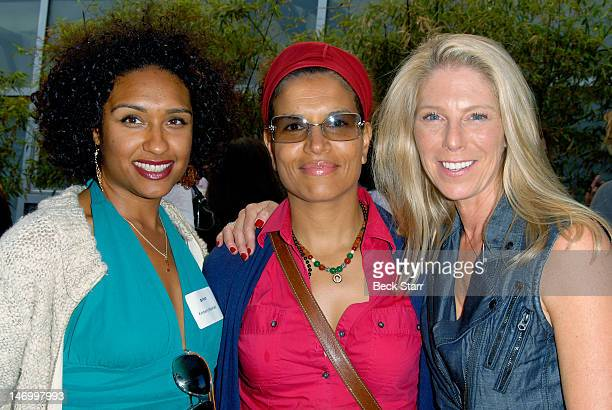Kimberly Marshal professional boxer Lucia Rijker and Outfest commitee member/donor Elizabeth Lande attend Outfest VIP Women's Soiree at Gallery Lofts...