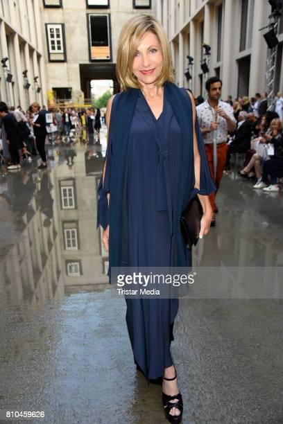 Kimberly Marteau Emerson attends the Marina Hoermanseder show during the Berliner Mode Salon Spring/Summer 2018 at Kronprinzenpalais on July 7 2017...